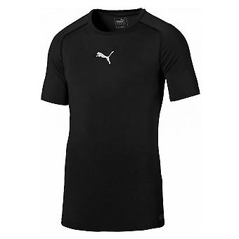 Puma Teamsport Bodywear Mens Adult Short Sleeve Baselayer Shirt Black