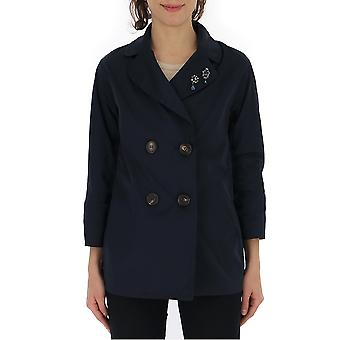 Max Mara Blue Nylon Outerwear Jacket