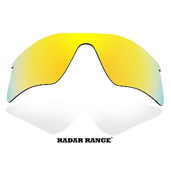 RADAR RANGE Replacement Lenses Polarized Gold Mirror by SEEK fits OAKLEY