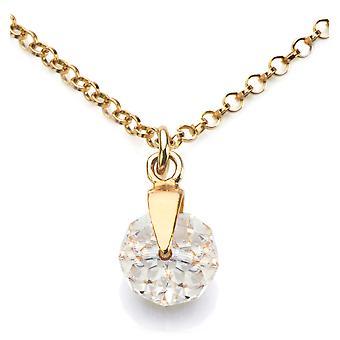 Ah! Bijoux 24K or sur argent sterling cristaux clairs de Swarovski briolette collier, estampillé 925