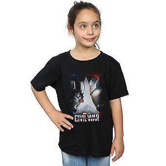 Marvel Studios Girls Captain America Civil War Poster T-Shirt