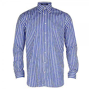 Gant Regent Poplin Stripe Shirt-Sea Blue