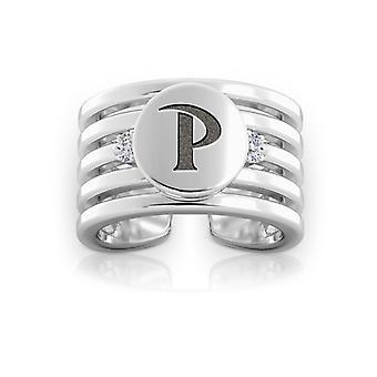 Pepperdine University Pepperdine Logo Engraved Multiband Cuff Ring