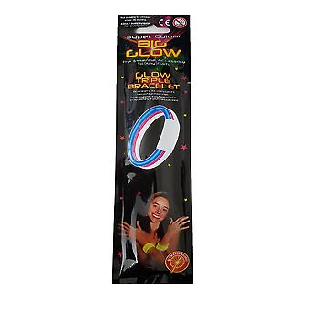 Super Colour Big Glow - Glow Triple Bracelet