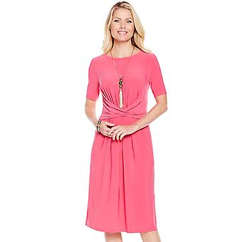 Ladies Womens Wrapover Front Dress Plain
