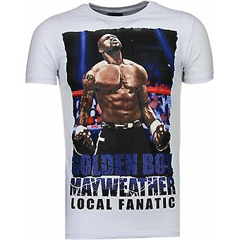 Golden Boy Mayweather-rhinestone T-shirt-vit