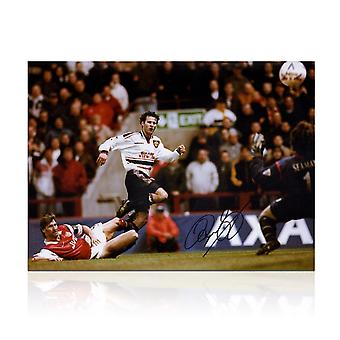 Ryan Giggs Signed Manchester United Photo: FA Cup Semi Final Wonder Goal