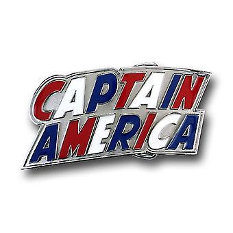Hebilla de cinturón de logotipo rojo y blanco de Capitán América