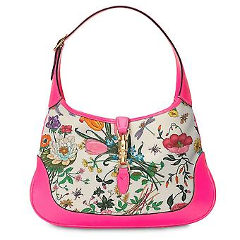 Jackie Flora Canvas Tote Bag