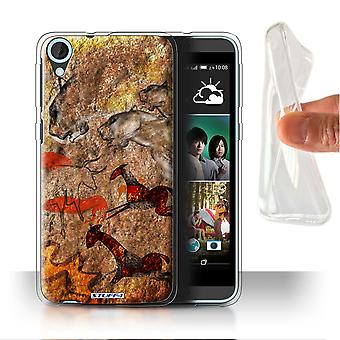 STUFF4 Gel/TPU Case/Cover for HTC Desire 820s Dual/Stampede/Red/Cave Painting