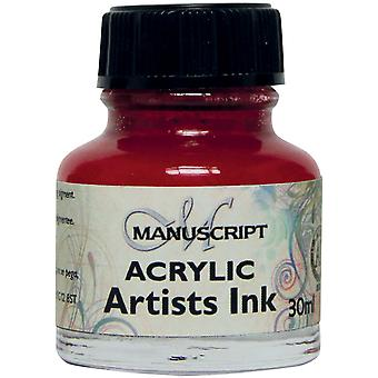 Manuscript Acrylic Artists Ink 30ml-Crimson MDP0-41