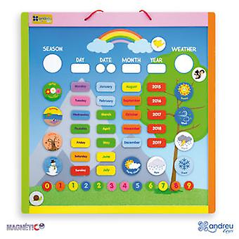 Andreu Toys Magnetic Calendar (Toys , Educative And Creative , Mathematics)