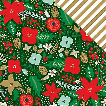 Deck The Halls Foil Double-Sided Cardstock 12