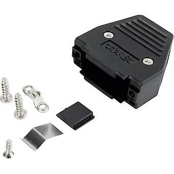 D-SUB housing Number of pins: 9 Plastic 180 ° Black Conec 165X11239XE 1 pc(s)