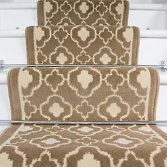 60cm Width - Contemporary Natural Trellis Stair Carpet