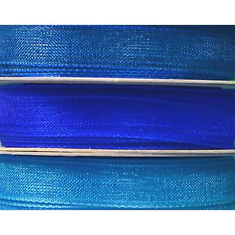 7mm Co-Ordinating Organza Ribbon Set for Crafts - 3 Pack - Blues