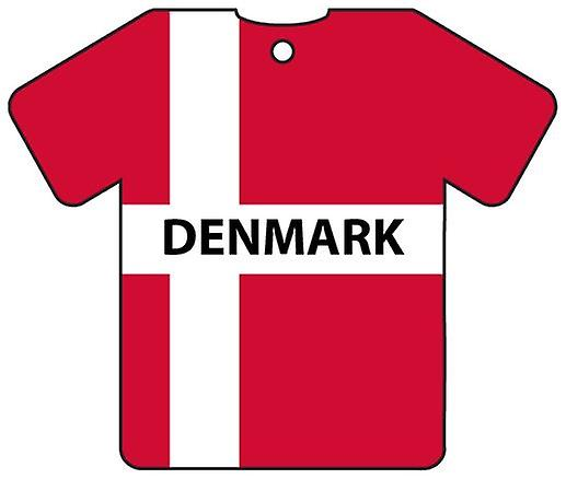 Personalised Denmark Flag Jersey Car Air Freshener