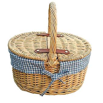Childs Picnic Basket with Blue lining