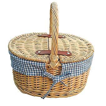 Childs picnickurv med blå foring