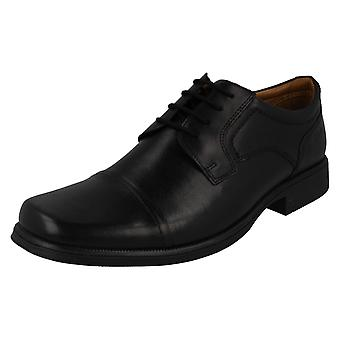 Mens Clarks Formal Lace Up Shoes Huckley Cap