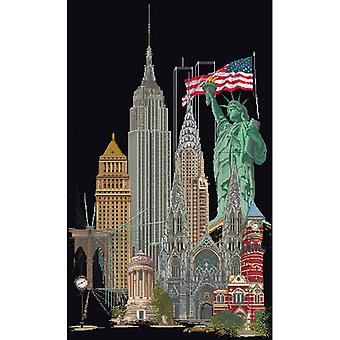 New York On Aida Counted Cross Stitch Kit-19.5