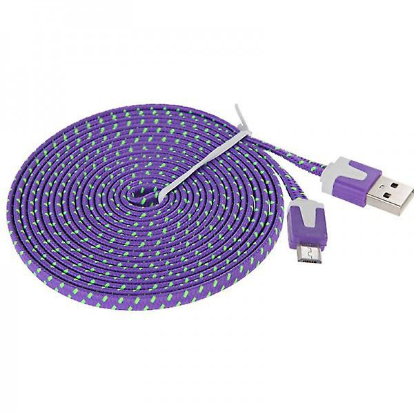 2m USB data and charging cable for all Smartphone and Tablet micro USB purple
