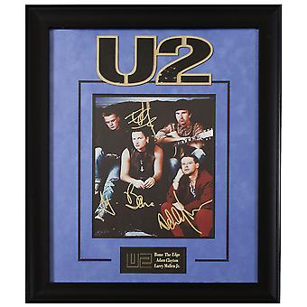 U2 Band Signed Picture Poster in Framed Case