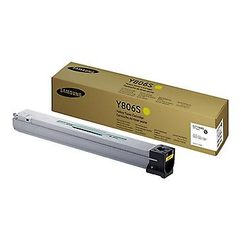 Samsung CLT-Y806S-Yellow-original toner cartridge-for X7400LX X7400GX, X7500GX, MultiXpress, X7500LX, X7600GX, X7600LX