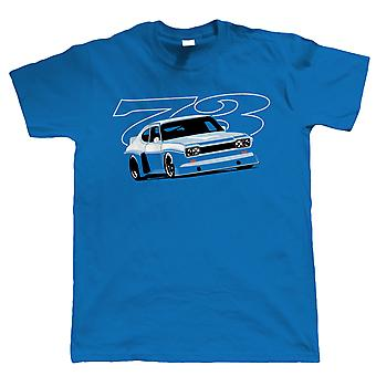 Vectorbomb, Capri 73, Mens Motorsport T-Shirt (S to 5XL)