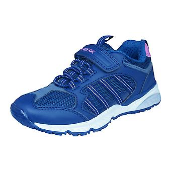 Geox J Bernie G.A Girls Trainers / Shoes - Navy