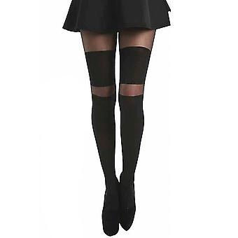 Pamela Mann 2 Stripe Wide Over The Knee Tights