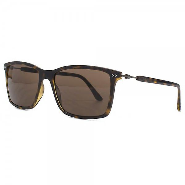 Giorgio Armani Frame Of Life Square Sunglasses In Matte Havana