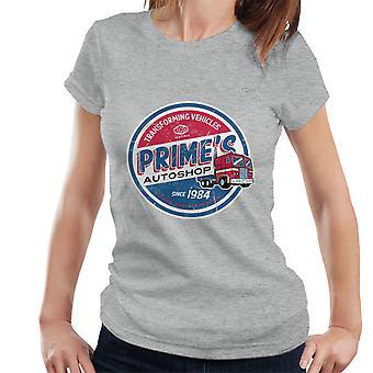 Transformers Optimus Prime Autoshop Women's T-Shirt