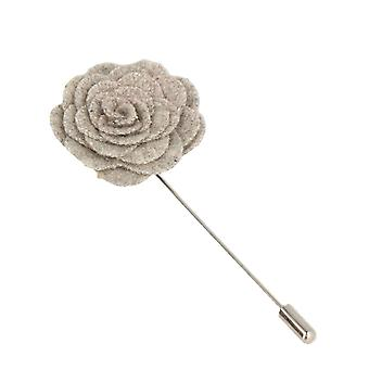 Snobbop revers-corsage flower pin brooch pin grey