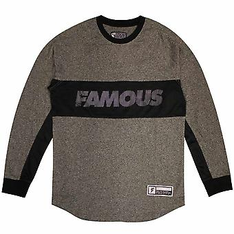 Famous Stars and Straps Peitsche Langarm T-shirt Black Heather