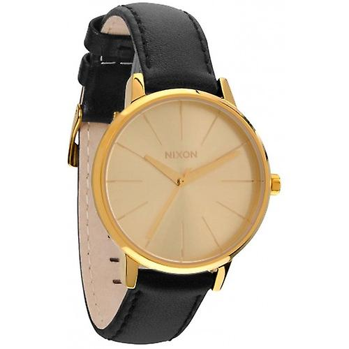 Nixon The Kensington Leather Watch - Gold
