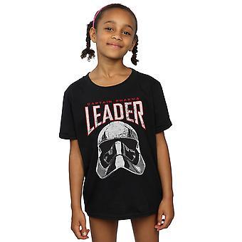 Star Wars Girls der letzten Jedi-Anführer Helm T-Shirt