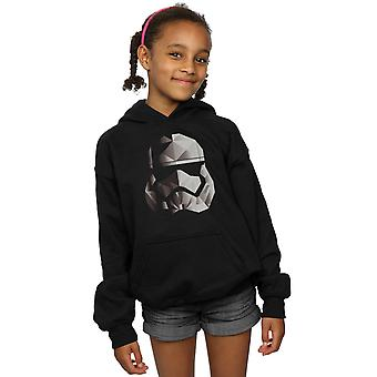 Star Wars Girls The Last Jedi Stormtrooper Mono Cubist Helmet Hoodie