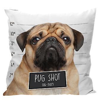 Puckator Pug Shot Cushion