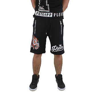 Philipp Plein MJT0039 No Light Black Jogging Shorts
