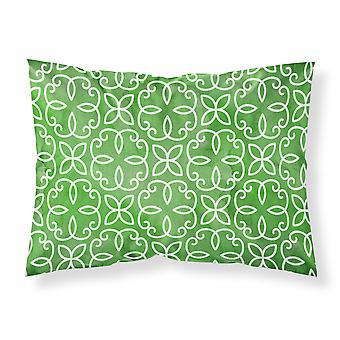 Aquarelle Cirlce géométrique sur la taie d'oreiller Standard tissu vert