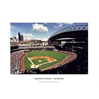 Safeco Field Seattle Poster Print by Ira Rosen (19 x 13)