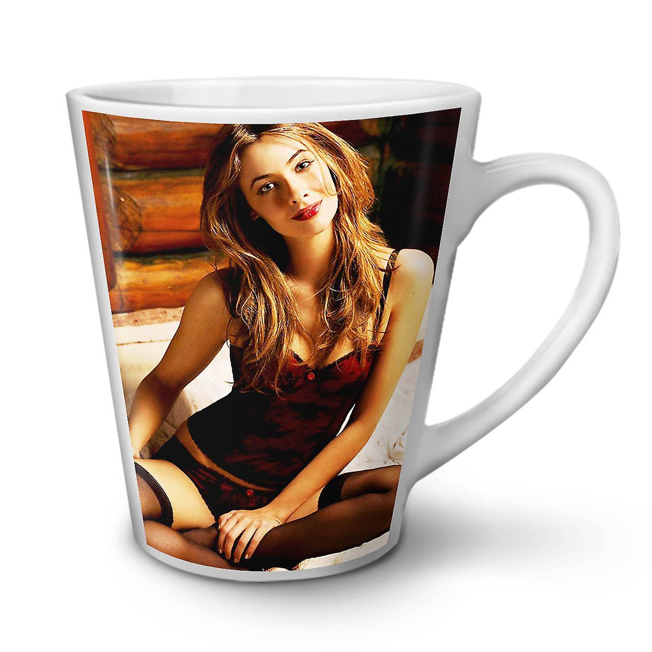 Thé Blanc OzWellcoda Café 12 Latte En Fille Mug Nouveau Céramique Lingerie 3q4jL5AR