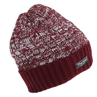 Adults Unisex Thermal Two Tone Winter Beanie Hat