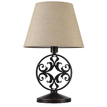 Maytoni Lighting Rustika House Collection Table Lamp, Brown