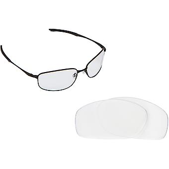 TAPER Replacement Lenses Crystal Safety Clear by SEEK fits OAKLEY Sunglasses