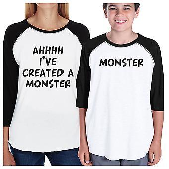 Créé un monstre les maman et enfant maillots de base-ball pour femme