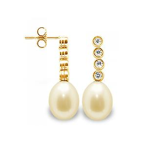 Earrings pearls gold, diamonds and gold 750/1000