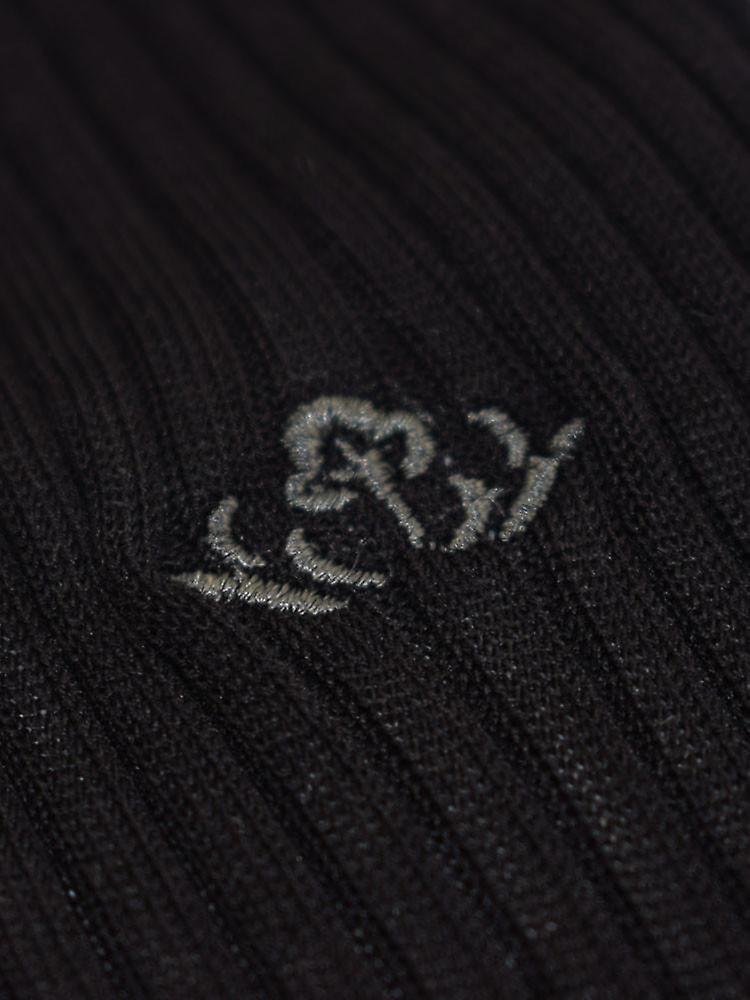 Cotton lisle tailored socks - black