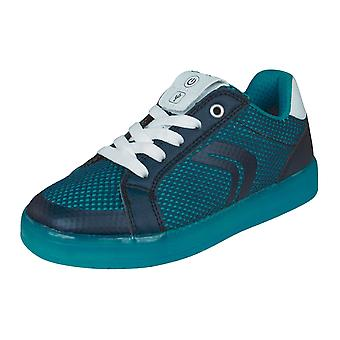 Geox Boys Trainers J Kommodor B.A Casual Shoes Shoes - Navy and Blue